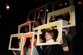 Bottom row: Jaclyn Zaltz, Simon Esler, Sarah Dineen Middle row: Glyn Bowerman, Daniel Daley, Rebecca Applebaum, Claire Accot Top row: Erin Fleck, Shannon Roszell Photo by David Levine