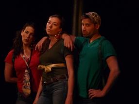 From left: Claire Acott, Erin Fleck, Matt Eger