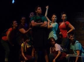 From left: Jenna Turk, Kate Kudelka, Jaclyn Zaltz, Erin Fleck, Matt Eger, Pip Dwyer, Peyton LeBarr, Claire Acott, Ben Ross
