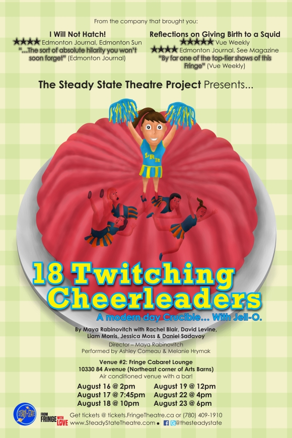 18 Twitching Cheerleaders is heading to the Edmonton Fringe!